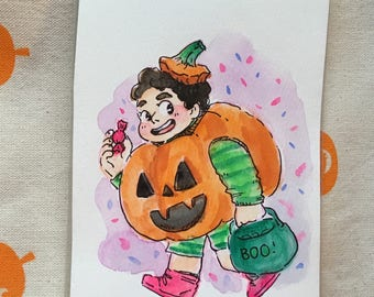 Halloween Steven original painting