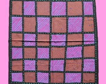 Vintage Ken Done Scarf - 80s Abstract Print