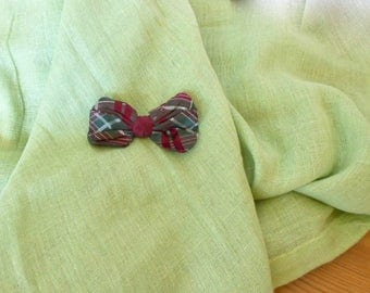 Small Bowtie, Men's Accessories, Bowties for Men, Clip On Bow Tie, Chequered Bow Tie, Serdur, Boy's bowtie