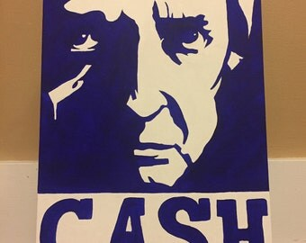 Johnny Cash acrylic painting