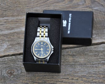 Wrist watch vintage Metal bracelet Quartz watch Korean watch Stainless steel watch Japan movt Mens watch with box Ring watch Maxell Time