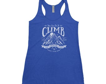Climb Your Mountain National Park Adventure Next Level Ladies Tri-Blend Tank