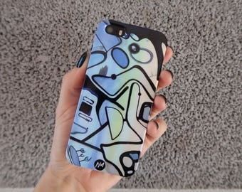 Party of Three - Smartphone case for iPhone 5/5s designed by Ninah Mars