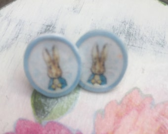 Peter Rabbit stud earrings
