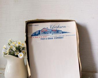 Clarkson Staley Feed and Grain Company - letterhead Note Paper  - Ephemera - Farm Barn - Springfield, MO