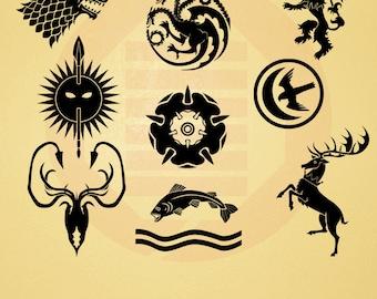 Game Of Thrones Vector Symbols | www.pixshark.com - Images ...
