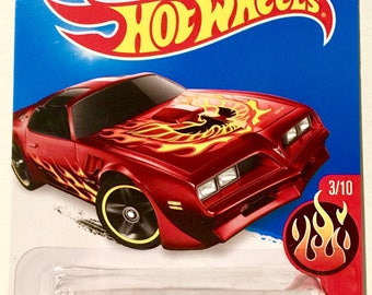 Hot Wheels '77 Pontiac Firebird #93/250 - HW Flames - RARE - Free Shipping
