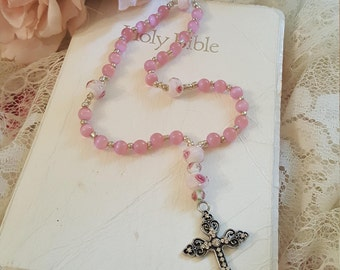 Anglican Prayer Beads - Hope - Breast Cancer Survivor Beads