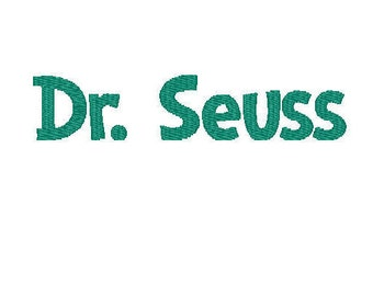 Dr. Seuss embroidery font PES BX SEW file instant download 3 sizes letters numbers