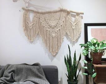 Large macrame wall hanging / macrame / boho decor / wedding backdrop / nursery decor / tapestry