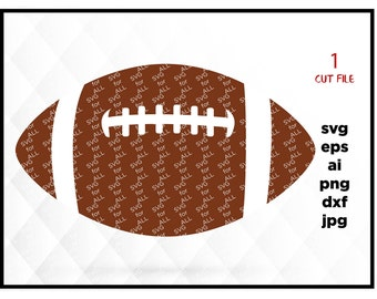 Football SVG File - Football Clipart - Sports DXF EPS Png Cut File, Diecut Machine, Instant Download, files for silhouette, files for Cricut