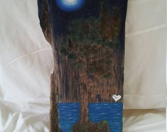 Driftwood Painting-Moonscape