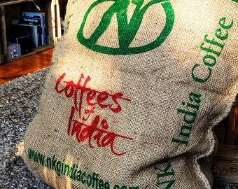 Bean bag/beanbag/decoration of old coffee sack - Upcycling