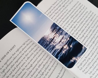 Ocean Waves Sparkling Bookmark