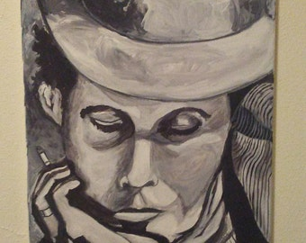 Black & White impressionist...TOM WAITS by Portland, OR artist Joseph Cardinal