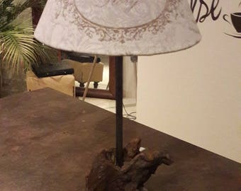 Driftwood table or bedside lamp