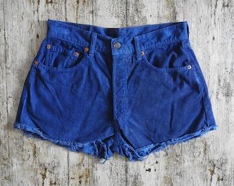 90s Levis 551 Reworked Corduroy Shorts