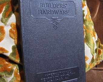 "Vintage ""Builders' Hardware"" by the International Textbook Company of Scranton PA copyright 1932 #266B"