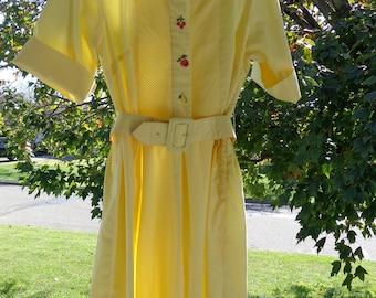 50's Vicky Vaughn Cotton Shirtwaist Dress