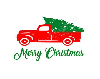 Christmas Truck SVG, DXF FILES