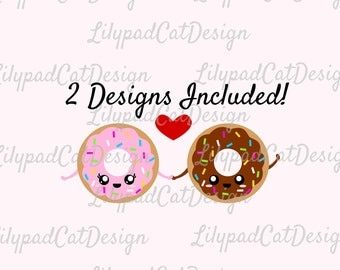 Donuts svg, pink donut, chocolate donut, donut love svg, cute donut svg, cute doughnut svg, PNG, DXF, sprinkles svg, donut clipart, cut file