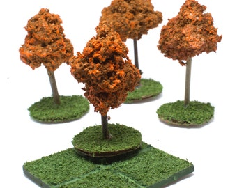 Dungeons and Dragons trees dungeon master campaign map accessories pathfinder dnd terrain bundle of four fall trees