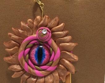 Pink Dragon Eyeball Bookmark