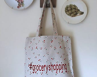 SHIPS FREE/ Canvas Grocery Shopping Bag, Canvas Market Tote