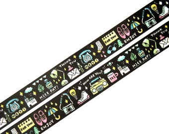 Eric Small Things Series Washi Tape - Nice Day / Papier Platz, Japanese Masking Tape, Kawaii Design, Planner Tape, Scrapbook Craft Tape
