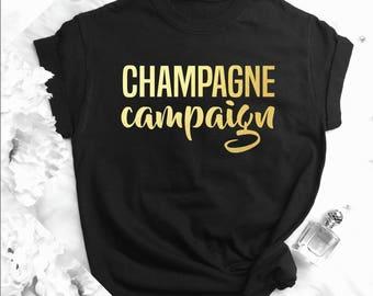 Bachelorette Party Shirt, Champaign Campaign Tank Top, Bride Champagne Bachelorette, Bridal Party Tank, Bride Shirt, Champagne Tees b12