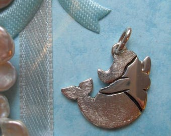 Mermaid pendant 925 sterling silver, Molly Mermaid 2, manga, Sea, Ocean, lake, sweet, whale, cute