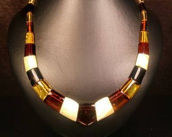 100% Genuine Baltic Amber necklace, length 49 cm, 23 grams