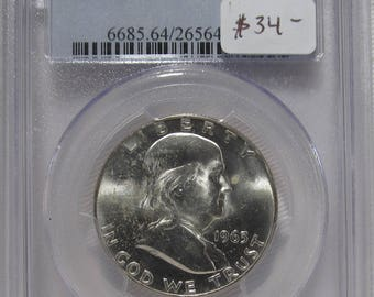 1963 D Franklin Half Dollar PCGS MS64 Certified Coin