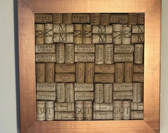 Wine Cork Board- Metallic Copper