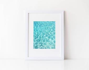 Pool Reflections Summer Art, Ocean Photography Modern Art Print, Beach Photography, Beach Photo, Tropical Print, Fine Art Photography Print