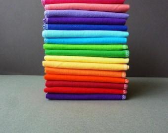 Napkins Cloth Paper Towels - 25 Cloth Napkins - Flannel Napkin Unpaper Towel - Eco Friendly Rainbow Color Napkin Set Unpaper Napkin Eco Home