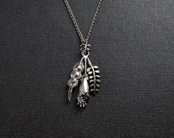 New Zealand /Kowhai / native / sterling silver/ necklace / pendant