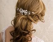 Bridal Hair Comb Floral Wedding Hair Comb Crystal Bridal Hair Comb Freshwater Pearl Wedding Clip Crystal Hair Clip Hair Comb