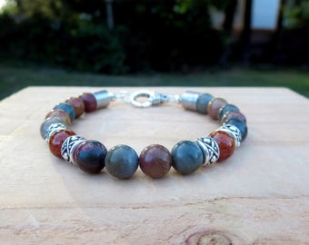 Stone Beaded Bracelet, Earthy Fashion Forward Accessories, Contemporary Hipster Style, Stylish Casual Everyday Jewelry Gifts