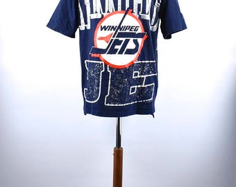 1980's Winnipeg Jets T-Shirt, Made in Canada, Size Large