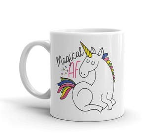 Magical AF / Unicorn Coffee Mug / Cute Unicorn Mug / Funny Unicorn Mug / Best seller