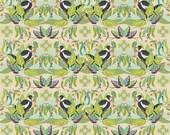 Horizons Kathy Doughty, MAGPIE HORIZON VIBRANT, Free Spirit Fabric, Woodland Fabric, Australian Fabric, Quilt, Bird, Fabric By the Yard