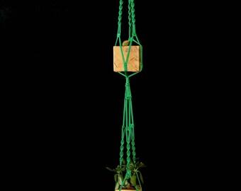 "Double Macrame Plant Hanger / Hanging Planter / Large Two Pot Holder / Ceiling 2 Tier Plant Hanger / Indoor Outdoor Plant Holder 64"" (160cm)"