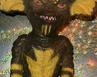 "Gremlin, Stripe, Movie Creature, Warner Bros, 1980's. LJN Toys,  6 1/2""H, Large Scary Toy,"