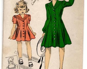 1940's DuBarry Girl's Sailor Princess Dress Pattern - 2 years - No. 2669B