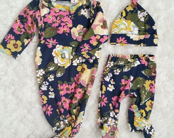 Layette Set; infant nightgown; baby shower gift; newborn clothing