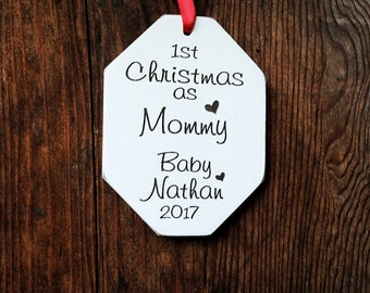 First Christmas New Mom Gift - New Mom Ornament - New Mommy Ornament  - First Christmas As Mommy Ornament - Mom's First Christmas Ornament