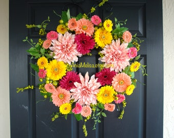 spring wreaths for front door wreaths Easter wreaths outdoor wreath country decorations welcome rustic wedding front door wreaths