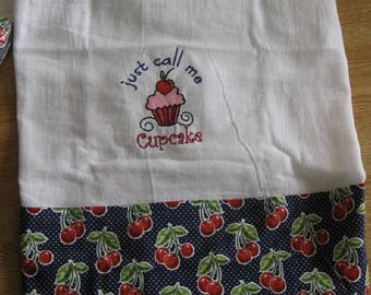 Just Call Me Cupcake Flour Sack Kitchen Towel