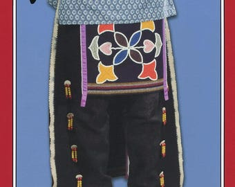 Native American Indian Breechclout & Leggings - Missouri River Sewing Pattern #006